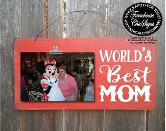 gift for mom, best mom frame, mom gift, world's best mom, mom picture frame, Christmas gift for mom, Mother's day gift, birthday gift, 233