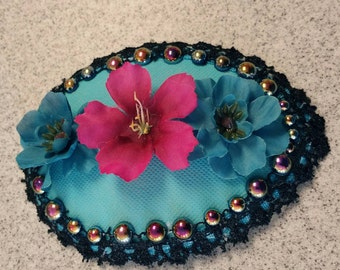 Blue Flower Fascinator
