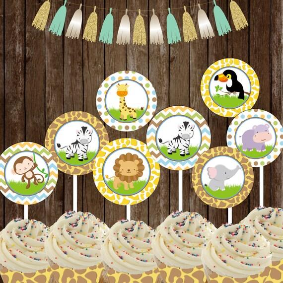 Safari Jungle Cupcake Toppers Safari Party Printable
