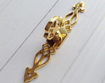 Gold Handles Dresser Pulls Handles / Gold Back Plate Drawer Knob Cabinet Pull Handle Knobs Furniture Hardware