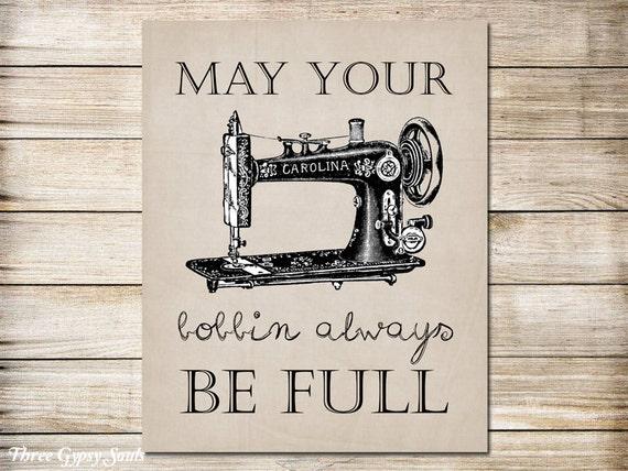 Printable Art Vintage Sewing Machine Art Sewing Wall Decor