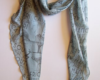 South African soft viscose scarf in grey