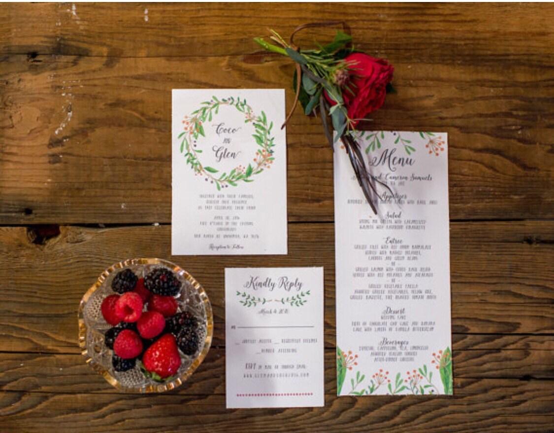 DIY Wedding Invitation Kit Printable Wedding Invitation