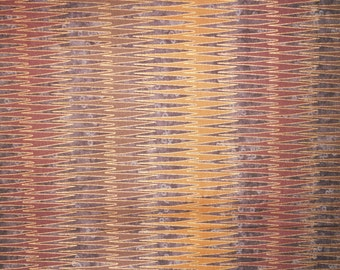 """Facets by Lonni Rossi.  Pattern 7180.  Andover Fabric.  Gold embossed. African fabric.  100% cotton.  1 yard 13"""" remnant only."""