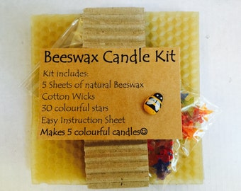 Roll Your Own Beeswax Candle Kit. Makes 5 Birthday size candles. FREE POSTAGE when you spend 50.00 or more in my shop