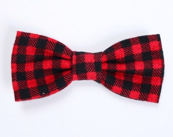 Red Buffalo Check Bow Tie // Buffalo Check // Fall Bow Ties // Boys Accessories
