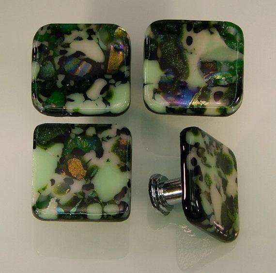 decorative fused glass cabinet door knobs drawer pulls. Black Bedroom Furniture Sets. Home Design Ideas