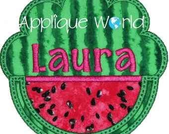 Scalloped Watermelon Applique Embroidery