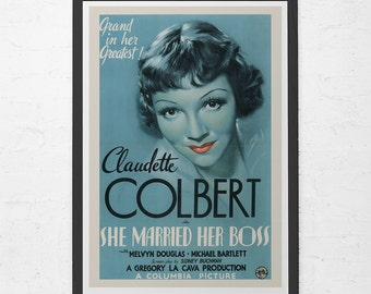 CLASSIC MOVIE POSTER -  Claudette Colbert Film Poster -  Powder Blue Movie Poster, Classic Film Poster, Art Film Poster