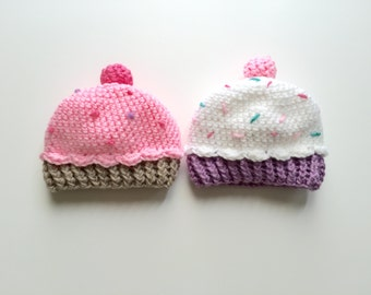 Crocheted Cupcake Beanies Made to Order