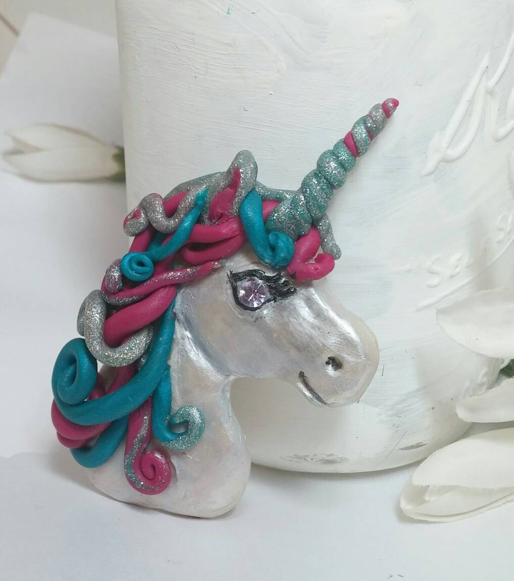 Unicorn magnet kitchen decor handmade by happyelephantart for Handmade kitchen decoration
