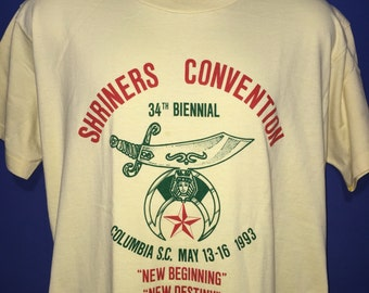 Vintage 1993 Shriners Convention t shirt *L