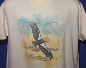 Vintage 1980s San Diego Zoo Flying Hawk t shirt *M