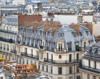 Paris photography, Paris rooftops, rooftops, view, French wall art, Paris decor, home decor, fine art print