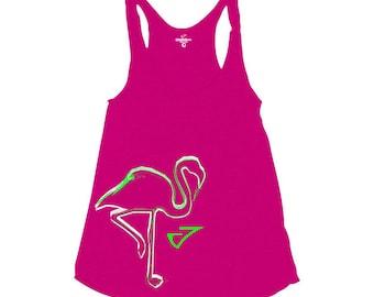Flamingo Graphic tank top Pink