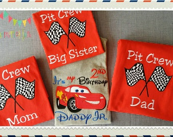 Disney Cars Birthday Shirt Etsy - Lightning mcqueen custom vinyl decals for car