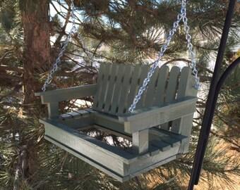 Bird Feeder Porch Swing Sage Green