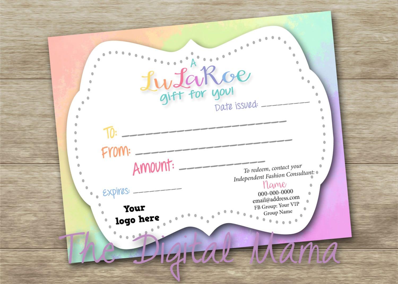 custom gift certificates templates