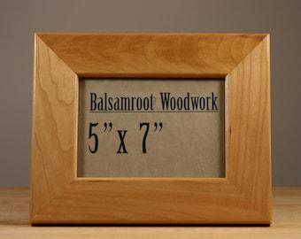 5x7 wood frame, modern frame, art frame, cherry wood frame, dark wood frame, desk accessory, modern woodwork, wedding photo frame, 5x7 frame