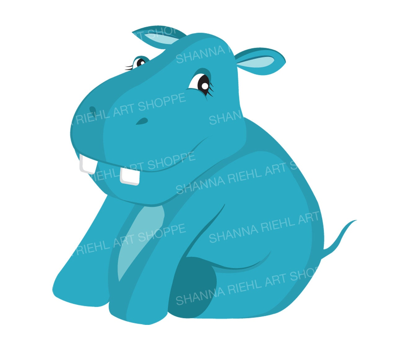 baby hippo nursery clipart commercial use hippopotamus printable