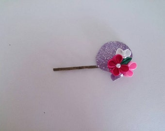 Thumb filigree flower hairpin 8-5