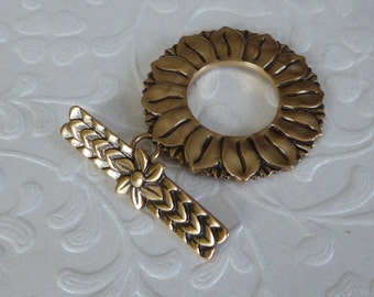 Sunflower Bronze Clasp ~ Large Clasp