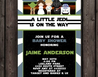 Star Wars Baby Shower Invitation, Customized Wording Included, Printable  Invitation, Star Wars Theme