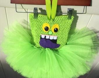 Ghostbusters costume, Slimer Costume, Slimer Tutu,  Monster Tutu Dress, First Birthday Tutu, Halloween Tutu Dress
