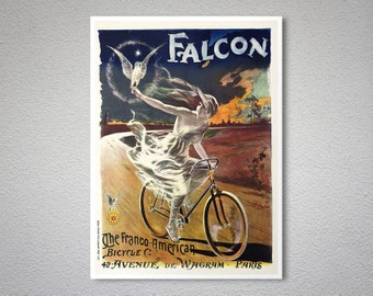 Falcon  The Franco American Bicycle - Vintage Bicycle Poster - Poster Print, Sticker or Canvas Print