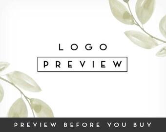 Preview a Premade Logo Design, Photography Logo, Business Logo, Branding Bundle