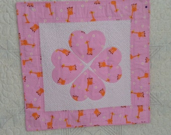 HEARTS, new, patchwork quilt, baby quilt