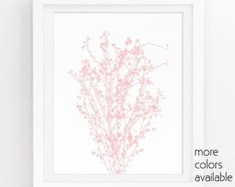 Pink wall art, Baby girl room decor, Girls wall art, Floral wall art, Pink floral, Modern nursery,Teen girl wall decor 5x7, 8x10, 11x14 242a