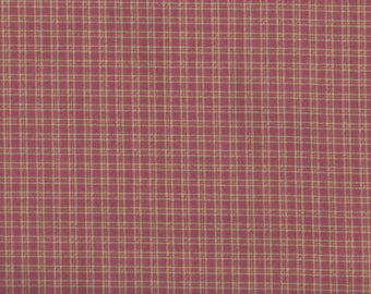 """Mauve Checkered Plaid  Cotton Quilting Fabric  -  46"""" wide x  1 1/2 yard"""