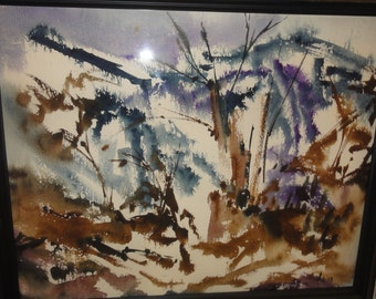Vintage Signed/  Abstract Watercolour