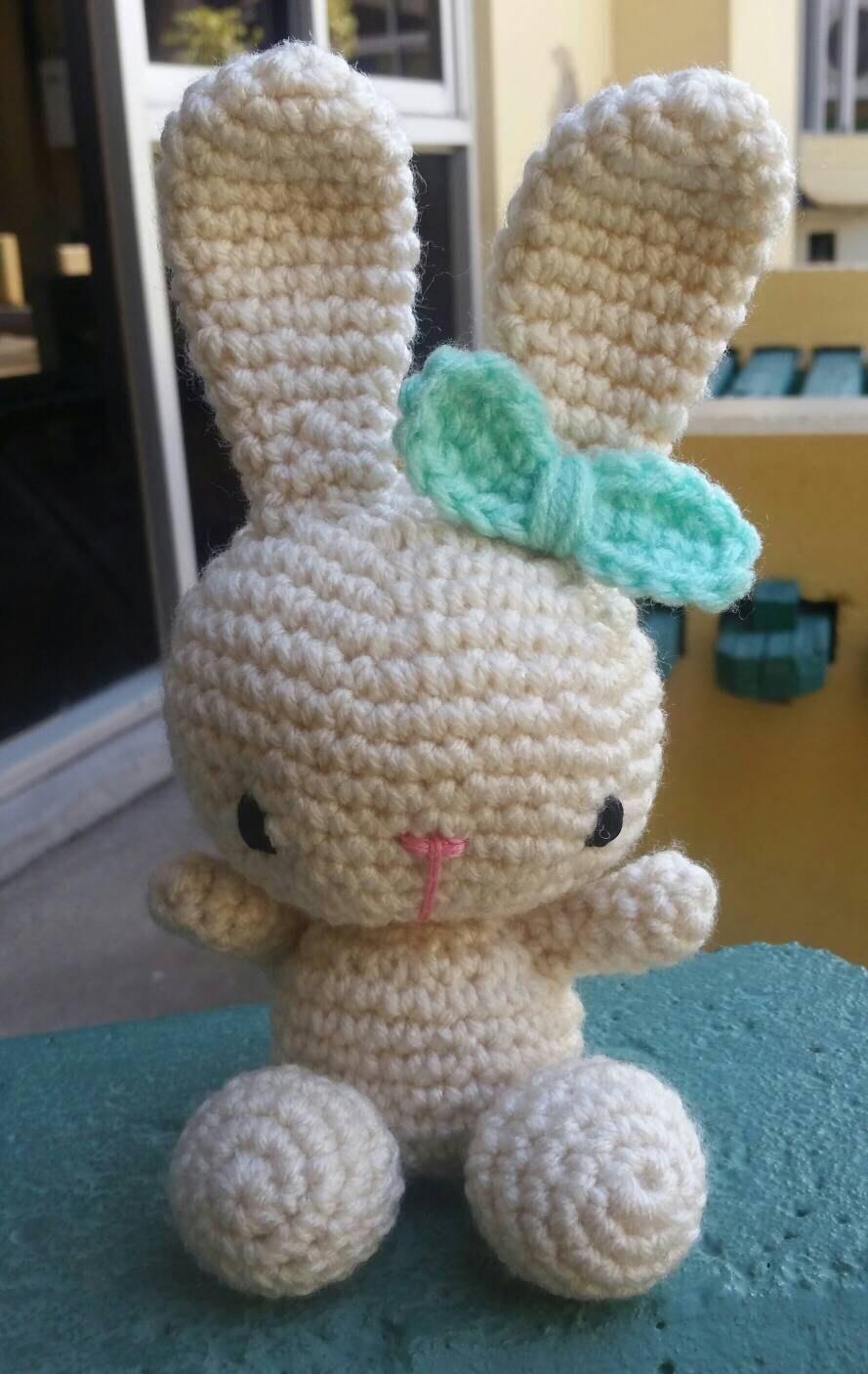 Crochet bunny rabbit. Amigurumi rabbit. Amigurumi toys.