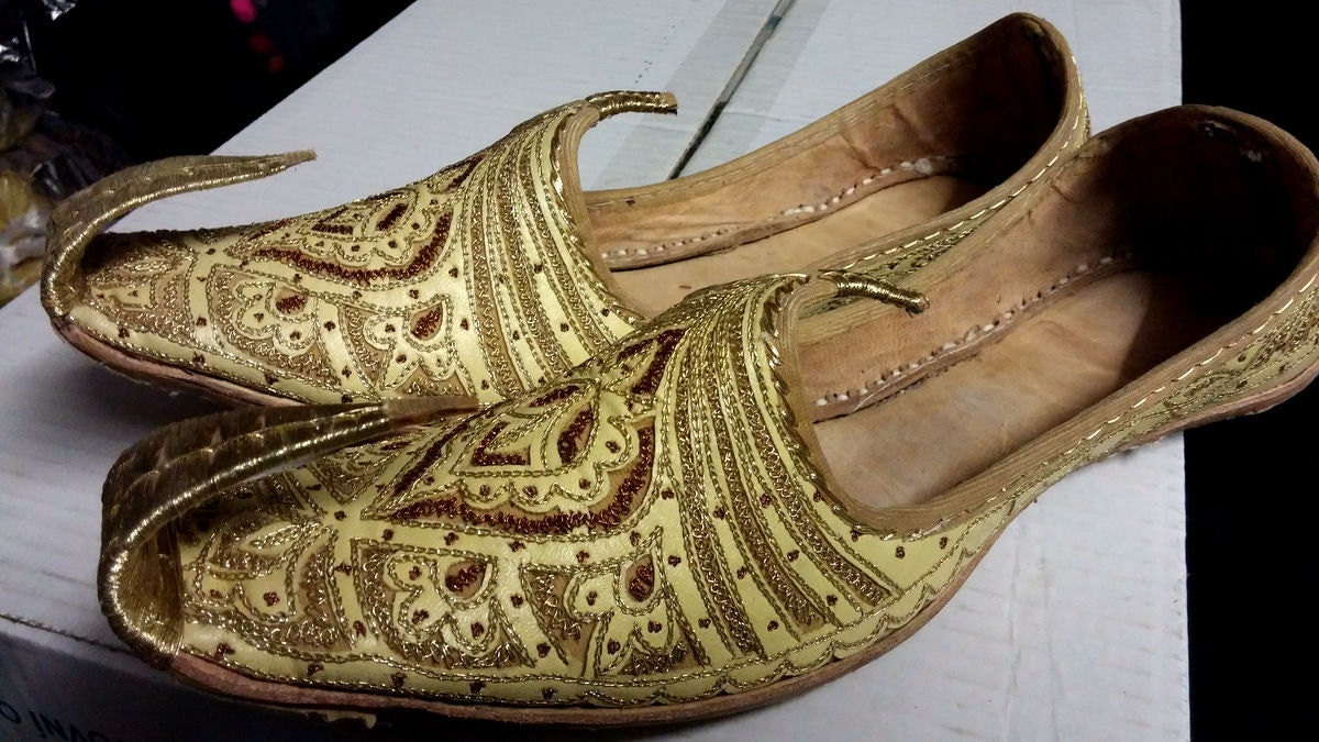 indian wedding leather khussa shoe size afghan foot