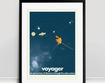 Voyager Space Probes Limited Edition A3 Giclee Print