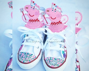 Custom Peppa Pig Converse (Toddler/Litle Kid)