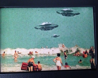 Framed Retro Print of UFOs