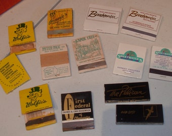 13x Old FLORIDA Matchbooks *KAPOK Tree, Wolfies, Ronnies, 1st Federal S&L, Beachcombers and More