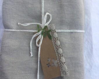 Linen Pillowcase, 100% Pure Belgian linen, washed,  soft, durable