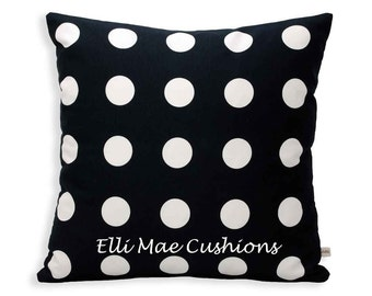 Ikea Spots Fabric Black and White Cushion Pillow Cover
