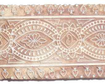 Vintage wood Block Stamp For Textile / Fabric Handmade & Hand Carved For Printing By Hand On Textiles /Fabric #Te-3