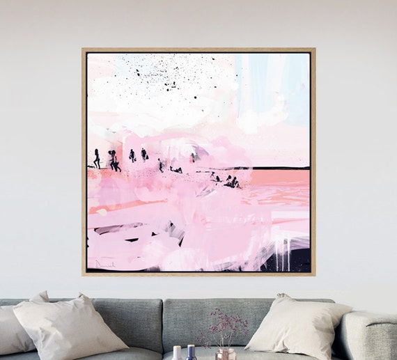 Square Art Printable Abstract Beach Living Room