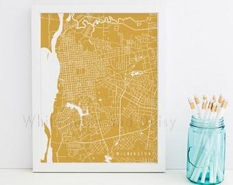 Wilmington Map Art Wilmington Print Wilmington Art Print Wilmington Poster Wilmington Printable Wilmington City Art North Carolina Art