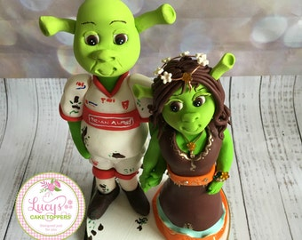 Wedding cake Topper Shrek or any movie character - a lovely keepsake fully handmade