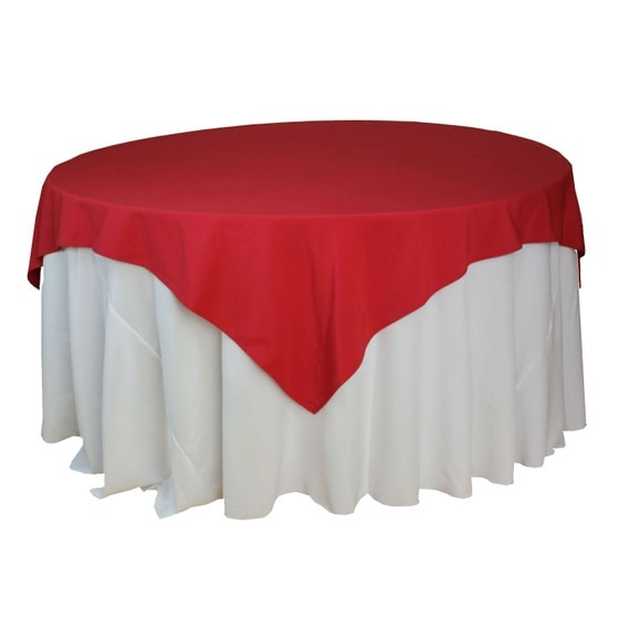 85 x 85 inches red table overlays for 6 ft round tables for 85 table overlay