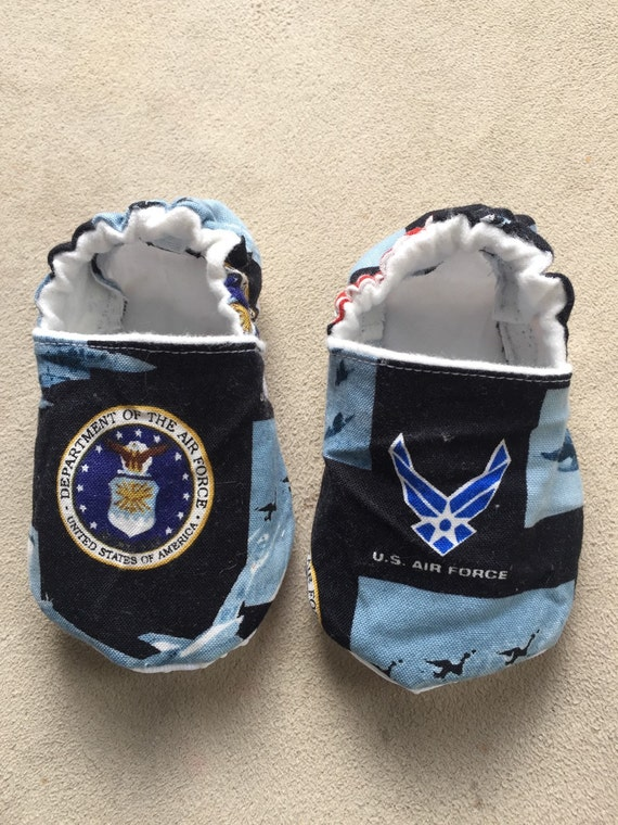 US Air Force booties crib shoes baby shoes military by