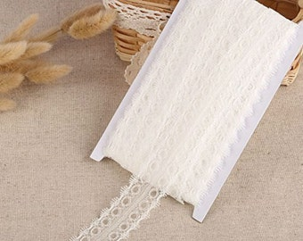 20m x 35mm Vintage White Lace Bridal Wedding Trim Ribbon Craft Gift