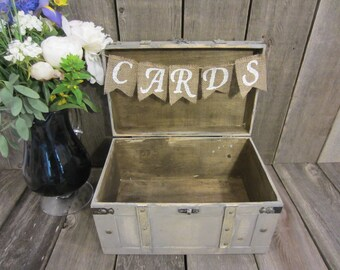 Card chest, card trunk, card holder, wedding card trunk, wedding card chest, vintage wedding decor, card suitcase, gift table decor